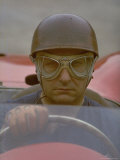 Argentine Auto Racer Juan Manuel Fangio Sitting at Wheel of Race Car at Las Mans Premium Photographic Print by Howard Sochurek
