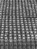 "Nationalist Chinese ""Boy Battalion"" Soldiers, En Masse, in Line Formation, During Army Day Parade Photographic Print by Howard Sochurek"
