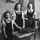 Country Western Singing Carter Sisters Anita, June and Helen, Singing, Playing Autoharp and Guitar Premium Photographic Print by Eric Schaal