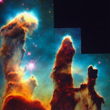Hubble Space Telescope View of Dense Clumps and Tendrils of Interstellar Hydrogen Photographic Print by Scowen 