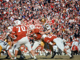 Navy's Quarterback Roger Staubach in Action Vs. Texas U Premium Photographic Print by George Silk