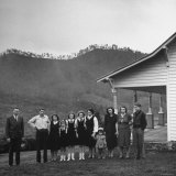 Legendary Country Western Music Carter Family: A.P. and Ezra with Family Premium Photographic Print by Eric Schaal
