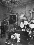 Dress Designer Christian Dior at Home in His Living Room Premium Photographic Print by Frank Scherschel