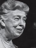 Former First Lady Eleanor Roosevelt Speak at Democratic Fundraising Dinner Honoring 75th Birthday Premium Photographic Print by Joe Scherschel