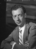 "Opera Composer Benjamin Britten After US Premiere of ""Peter Grimes"" at the Berkshire Music Festival Premium Photographic Print by W. Eugene Smith"
