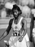 Indian Olympic Sprinter Milkha Singh at the 1960 Olympics, Rome, Italy Premium Photographic Print by George Silk