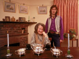 Eric Clapton with His Grandmother Rose Clapp Premium Photographic Print by John Olson