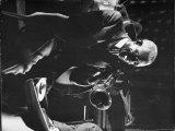 Jazz Musician Bunk Johnson Performing with His New Orleans Band Reprodukcja zdjęcia premium autor Gjon Mili