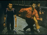 George Chakiris as Bernardo Leads Two Others Into Turf of Rival Gang in West Side Story Premium Photographic Print by Gjon Mili