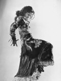 Spanish Flamenco Dancer Carmen Amaya Performing Premium Photographic Print by Gjon Mili