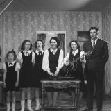 Legendary Country Western Music Carter Family Singing at Home, A.P, Maybelle, Helen, June, Anita Premium Photographic Print by Eric Schaal