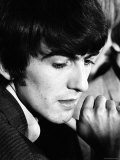 George Harrison, a Member of Music group The Beatles, During an Interview Premium Photographic Print by Bill Ray
