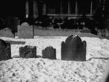 Gravestones Intrinity Church Yard on Lower Broadway, New York Premium Photographic Print by Walker Evans