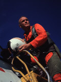 Retiring Astronaut John Glenn in Pilot&#39;s Flight Suit, During Visit to El Toro Marine Air Base Premium Photographic Print by Bill Ray