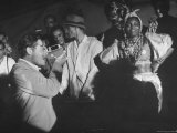 Entertainer Orson Welles Filming the Rio de Janerio Carnival Celebration Premium Photographic Print by Hart Preston