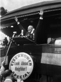 Repub. Pres. Candidate Dwight Eisenhower on Eisenhower Special Train Premium Photographic Print by Ralph Morse