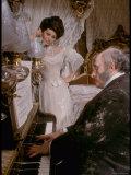 Sophia Loren in Elegant Victorian Costume, Scene from Lady L Premium-Fotodruck von Gjon Mili