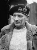 General Bernard L. Montgomery, in Command of British 8th Army During Drive Through Italy Metal Print by George Rodger