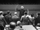 Conductor Arturo Toscanini Conducting Singers from the Metropolitan Opera Premium Photographic Print by W. Eugene Smith