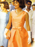 First Lady Jackie Kennedy, Walking Through Crowd in Udaipur During a Visit to India Premium Photographic Print by Art Rickerby