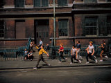 Strutting Sidewalk Dance, Scene from West Side Story Premium Photographic Print by Gjon Mili
