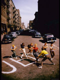 Jets' Dance on Busy Street in Scene from West Side Story Premium-Fotodruck von Gjon Mili