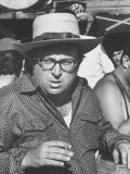 "Director Sergio Leone on Location in Almeria, Spain Filming ""Once Upon a Time in the West."" Premium Photographic Print by Bill Ray"