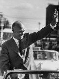 Rep. Pres. Candidate General Dwight D. Eisenhower, on a Campaigning Tour Premium Photographic Print by Joe Scherschel