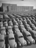 Volkswagen Factory Rolls an Average of 150 Efficient 4 Cylinder Sedans Into Storage Yards Every Day Premium Photographic Print by Walter Sanders