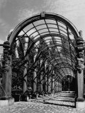 Pergola with Fountain, Reproduced Accordingly, Figured in Some of Peter Paul Rubens' Paintings Premium Photographic Print by George Rodger