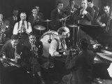 Duke Ellington, Dizzy Gillespie, Mezz Mezzrow and Others at Jam Session Reprodukcja zdjęcia premium autor Gjon Mili