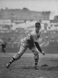 Red Sox Dave Ferriss Pitching to Yankee Player at Yankee Stadium During Game Premium Photographic Print by Sam Shere