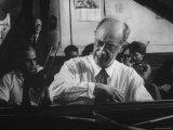 Pianist Rudolf Serkin Reprodukcja zdjęcia premium autor Gjon Mili