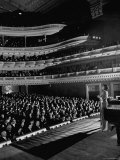 Marian Anderson Performing for an Audience at Carnegie Hall Reprodukcja zdjęcia premium autor Gjon Mili