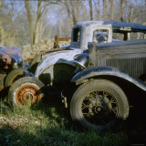 Old Cars in a Junk Yard Photographic Print by Walker Evans