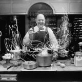 Author and Top Chef James A. Beard in Kitchen Creating Light Trails Al a Picasso Premium Photographic Print by Arthur Schatz