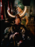 David Niven and Sophia Loren Wearing Elaborate Costumes for Scene from Lady L Premium Photographic Print by Gjon Mili