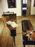 Apartment Where Mozart Was Born with Display of Instruments Premium Photographic Print by Gjon Mili