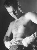 Boxer Billy Conn Getting Ready for a Fight Premium Photographic Print by Sam Shere