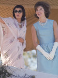 First Lady Jackie Kennedy Polo Ground on a Visit to India Premium Photographic Print by Art Rickerby