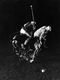 William Nicholls and William Rand of Squadron Polo Team Indoor Polo at National Guard Armory, NYC Premium Photographic Print by Gjon Mili