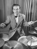Boy Drummer and Composer Mel Torme, Playing Drums Reprodukcja zdjęcia premium autor William C. Shrout