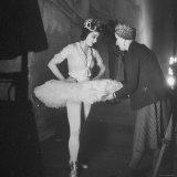 Ballerina Margot Fonteyn Standing in Wings Prepares for Reopening Covent Garden Royal Opera House Premium Photographic Print by David Scherman