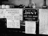 Signs at Lunch Counter Premium Photographic Print by J. R. Eyerman