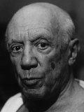 Portrait of Artist Pablo Picasso Premium-Fotodruck von Gjon Mili