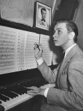 Boy Drummer and Composer Mel Torme, Playing the Piano Premium Photographic Print by William C. Shrout