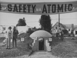 A Model Atomic Bomb Shelter for Personal Use Premium Photographic Print by Loomis Dean