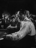 Duke Ellington Playing Sophisticated Lady at Jam Session Reprodukcja zdjęcia premium autor Gjon Mili