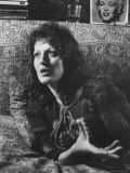 Feminist Author Germaine Greer Speaking in Serious Portrait, Photographic Print