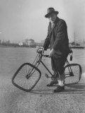 Eccentric Square-Wheeled Bicycle Premium Photographic Print by Wallace Kirkland
